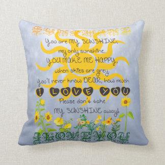 You are my sunshine cushion
