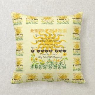 You are my sunshine. cushion