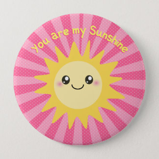 You are my Sunshine cute sun 10 Cm Round Badge