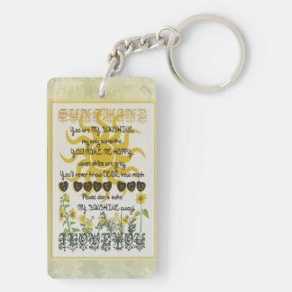 You are my sunshine. Double-Sided rectangular acrylic key ring