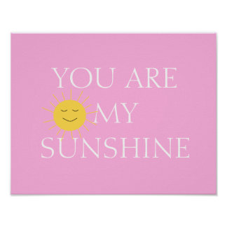 You Are My Sunshine Girls Frameable Poster