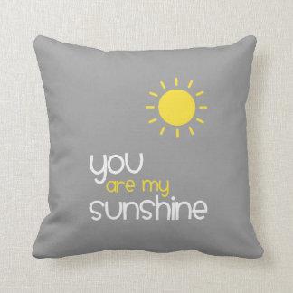 You Are My Sunshine Gray Cushion