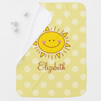 You Are My Sunshine Happy Cute Smiley Sunny Baby Baby Blanket