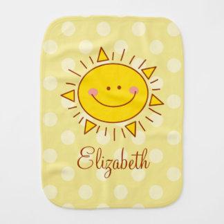 You Are My Sunshine Happy Cute Smiley Sunny Baby Burp Cloth