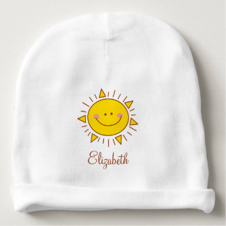 You Are My Sunshine Happy Cute Smiley Sunny Day Baby Beanie