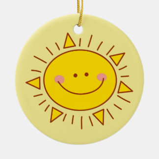 You Are My Sunshine Happy Cute Smiley Sunny Day Christmas Ornament