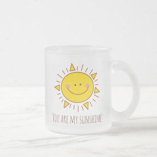 You Are My Sunshine Happy Cute Smiley Sunny Day Frosted Glass Coffee Mug