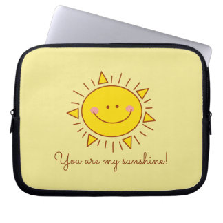 You Are My Sunshine Happy Cute Smiley Sunny Day Laptop Sleeve