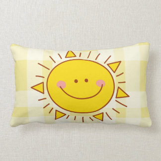 You Are My Sunshine Happy Cute Smiley Sunny Day Lumbar Cushion