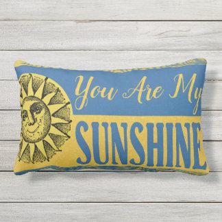 You Are My Sunshine Inspirational Quote Lumbar Cushion