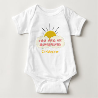 You Are My Sunshine Just Add Name Baby Bodysuit