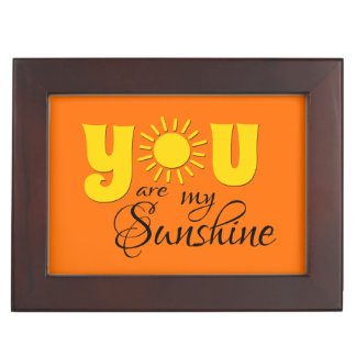 You are my sunshine keepsake box