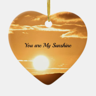 You are My Sunshine - Landscape with Rising Sun Christmas Ornament