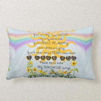 You Are My Sunshine Lumbar Cushion