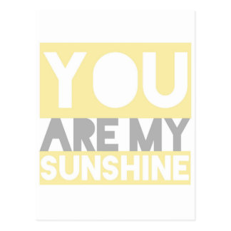 You are My Sunshine Lyrics Postcard