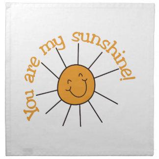 You Are My Sunshine Napkin