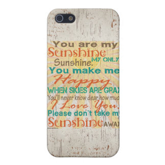 You are my Sunshine Orange/Teal/Cream Cover For iPhone 5/5S