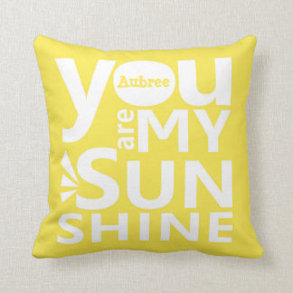 You Are My Sunshine Personalized Pillow