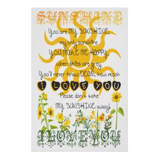 You are my sunshine. posters