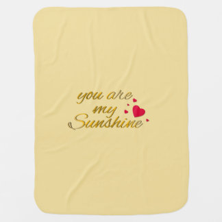 You Are My Sunshine Quote | Gold Yellow Nursery Swaddle Blankets