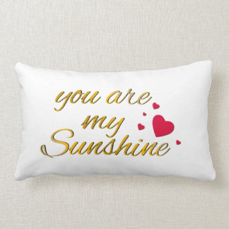 You Are My Sunshine Song Nursery | Gold Typography Lumbar Cushion