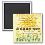 You are my sunshine. square magnet
