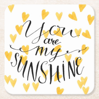 You Are My Sunshine Square Paper Coaster