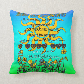 When Should I Throw Away My Pillow : You Are My Sunshine Cushions - You Are My Sunshine Scatter Cushions Zazzle.co.uk