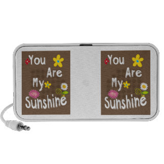 """You are my Sunshine"" Typography - Brown iPhone Speakers"