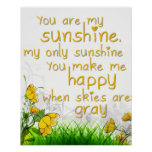 """You Are My Sunshine"" Wall Art Posters"