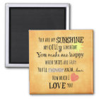 You are my Sunshine Word Art Typography Magnet