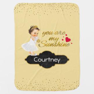 You Are My Sunshine Yello | Princess Nursery Throw Baby Blanket