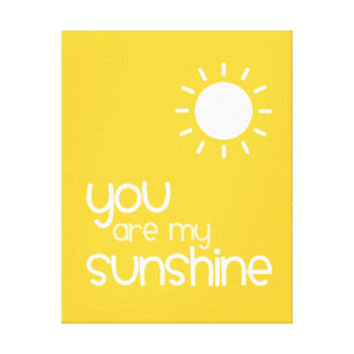 You Are My Sunshine Yellow Nursery Art Decor
