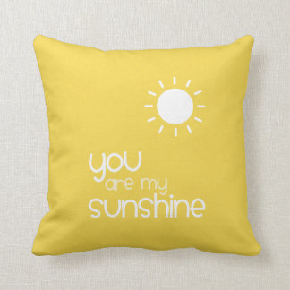 You Are My Sunshine Yellow Throw Pillow