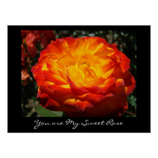 You are My Sweet Rose Flower art print Roses