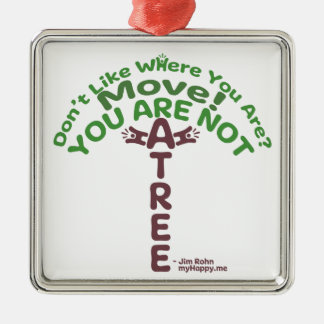 You Are Not A Tree! - Jim Rohn Christmas Ornament