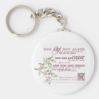 You are not alone basic round button key ring