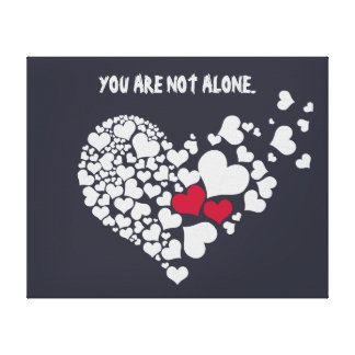 You Are Not Alone Canvas Wall Art