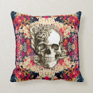 You are not here sugar skull cushion