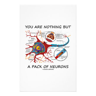 You Are Nothing But A Pack Of Neurons (Synapse) Stationery Design