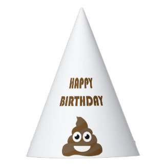 You are old as...Happy Birthday   funny poop emoji Party Hat