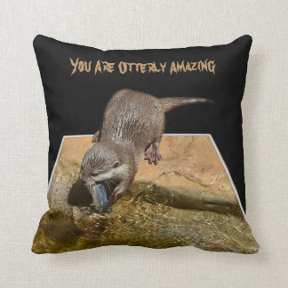 You Are Otterly Amazing, Otter Logo, Cushion. Cushion