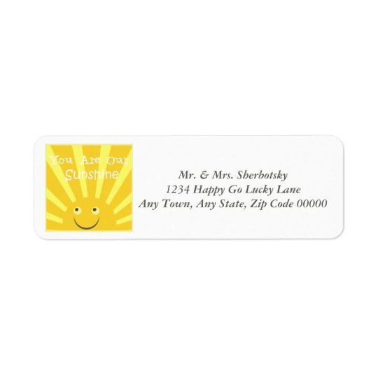 You Are Our Sunshine Return Address Label