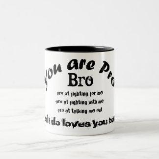 you are pro bro black tea cup Two-Tone mug