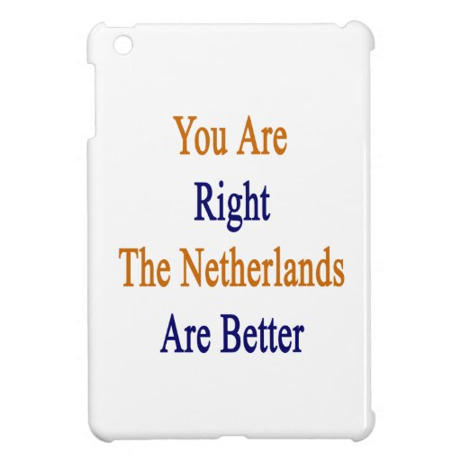 You Are Right The Netherlands Are Better iPad Mini Covers