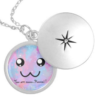 You are so Kawaii Pastel Magical Cute Face Silver Plated Necklace