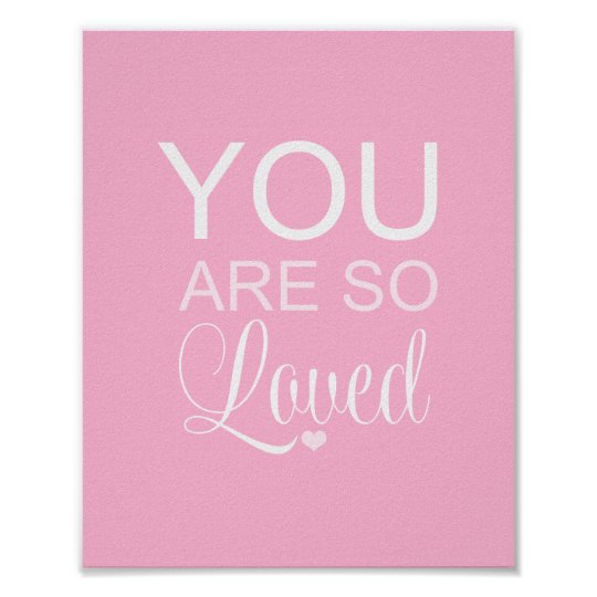 You Are So Loved Pink Nursery Art Decor