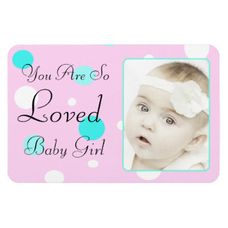 You are so Loverd  Teal & Pink Personalized Magnet