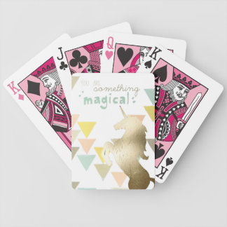 You Are Something Magical Gold Unicorn Bicycle Playing Cards