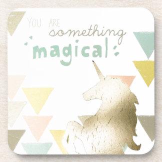 You Are Something Magical Gold Unicorn Coaster